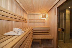 Sauna im Garten Blockhaus